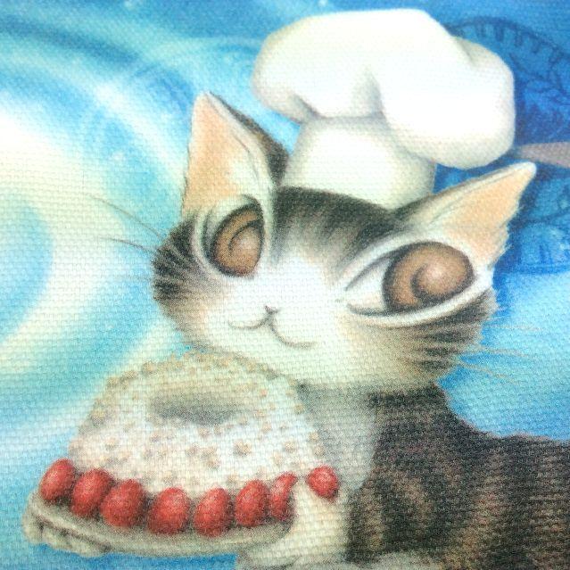 ダヤン青い星のケーキペンポーチのアップ画像