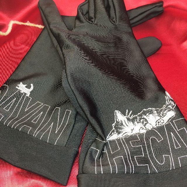 ダヤンの抗菌手袋「すやすや」柄の全体の画像