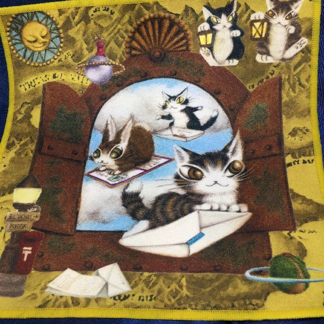 猫のダヤンのメガネ拭き「手紙に乗って世界へ」の全体画像
