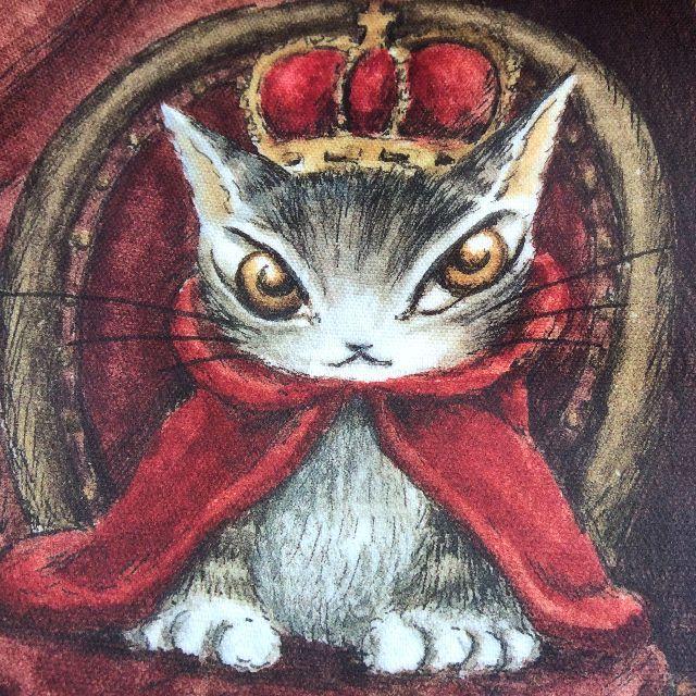 猫のダヤンの5ポケットラミネートバッグの柄のクローズアップ画像
