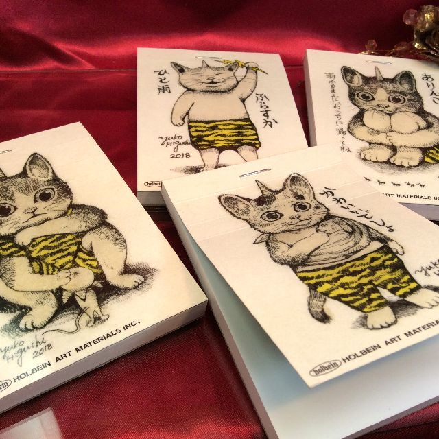 ヒグチユウコさんの猫のメモの全体の画像