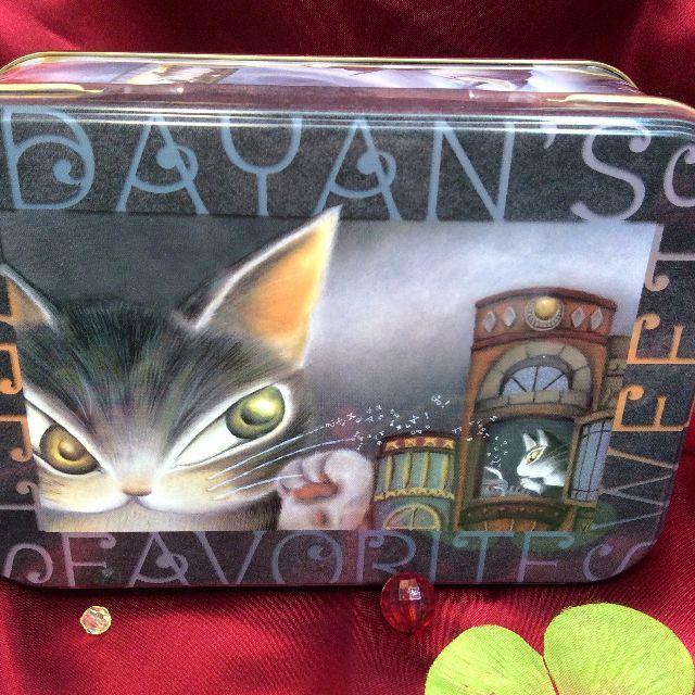 ダヤンのクッキー缶の蓋の画像