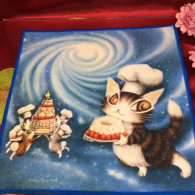 ダヤンのメガネ拭き「青い星のケーキ」の全体画像