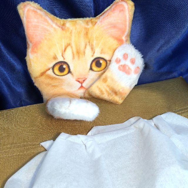 フェリシモ猫部のトラ猫ティシュボックスカバーの全体画像