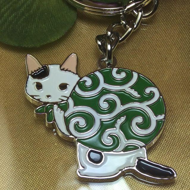 ポタリングキャットのキーリング泥棒猫のクローズアップ画像