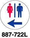丸型標識 駐輪禁止(文字入り)