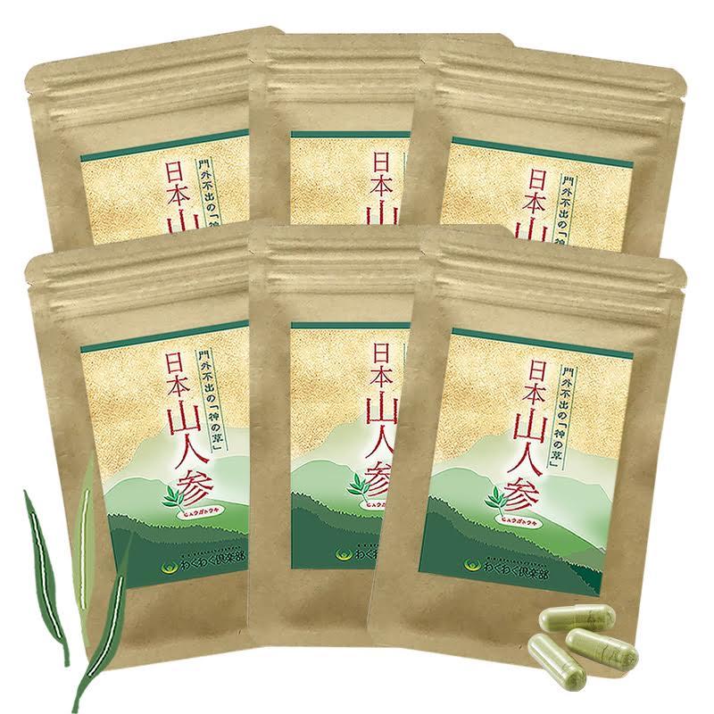 食物繊維 カリウム 日本山人参 (6袋 約3ヶ月分) 高千穂産100% 国産 まとめ買い