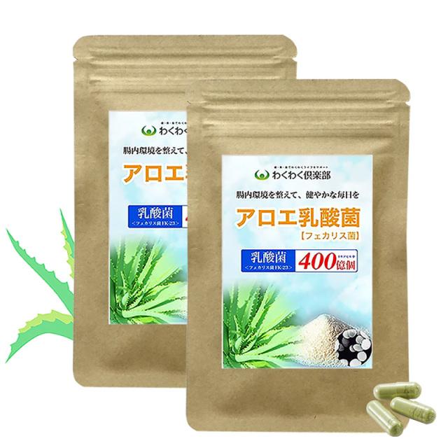 フェリカス菌(乳酸菌)&アロエサプリメント 1ヶ月分2袋