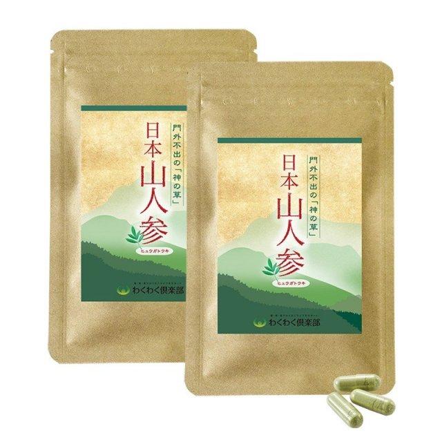 食物繊維 カリウム 日本山人参 (2袋 約1ヶ月分) 国産 サプリメント