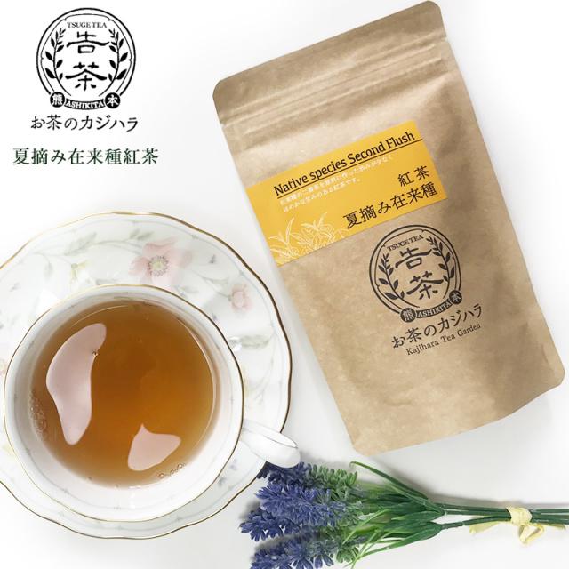 国産の紅茶 夏摘み在来 和紅茶 (2袋セット) 熊本産 お茶のカジハラ