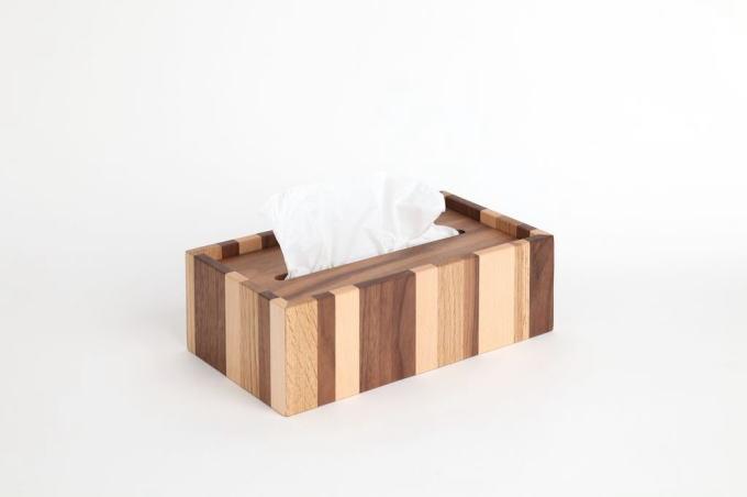 木製ティッシュボックス