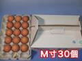 おいしい卵はいかが?田舎で育った健康卵/青空たまごM寸30個入