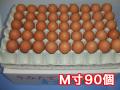 おいしい卵はいかが?田舎で育った健康卵/青空たまごM寸90個入