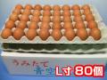 おいしい卵はいかが?田舎で育った健康卵/青空たまごL寸80個入