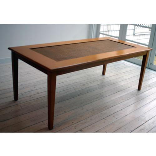 ガラストップ・ダイニングテーブル(6人掛け)