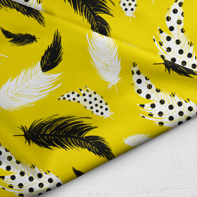 Little_Smilemakers_Studio_feathers_ink_mustard