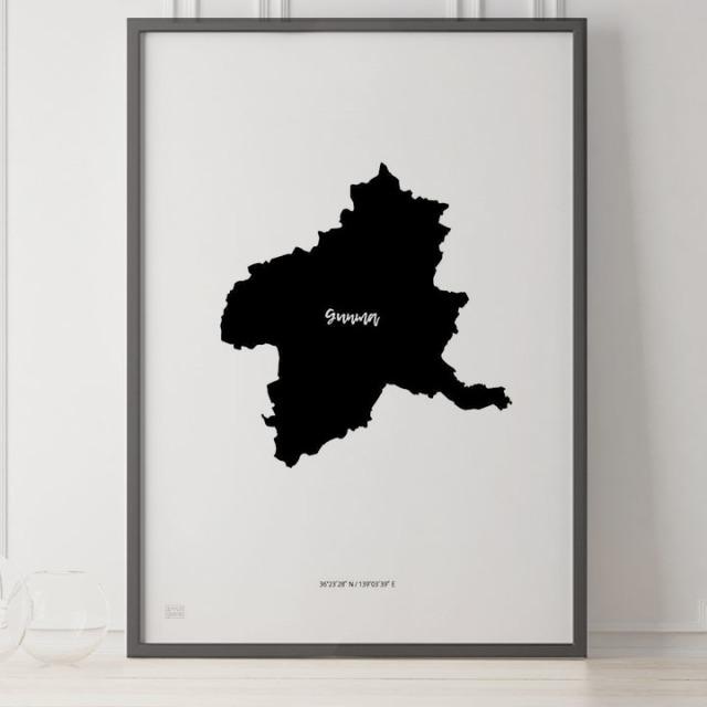 -Japan Map Poster-群馬