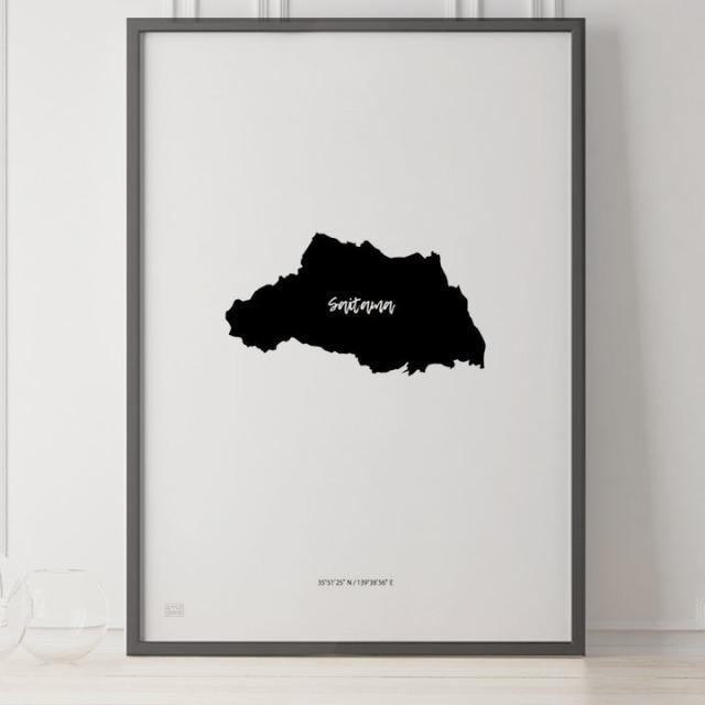 -Japan Map Poster-埼玉