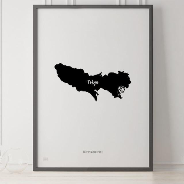 -Japan Map Poster-東京