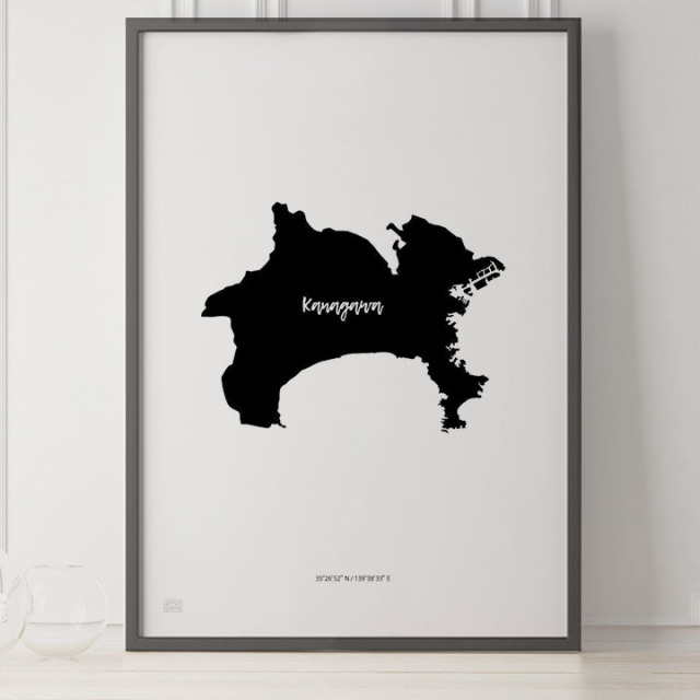 -Japan Map Poster-神奈川