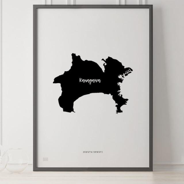 -Japan Map Poster-神奈川