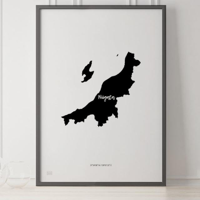 -Japan Map Poster-新潟
