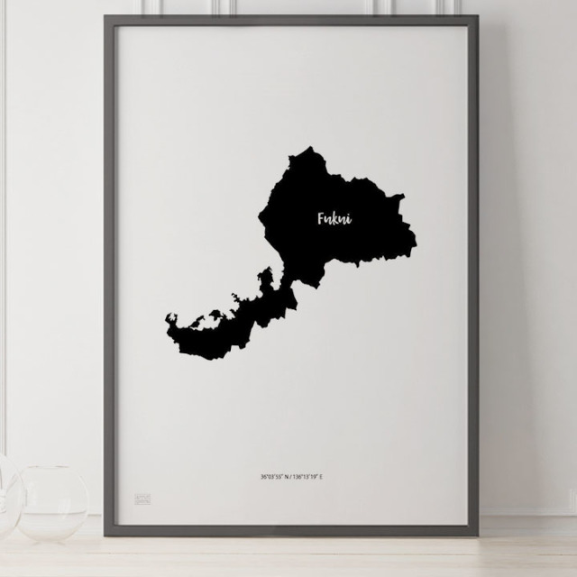 -Japan Map Poster-福井
