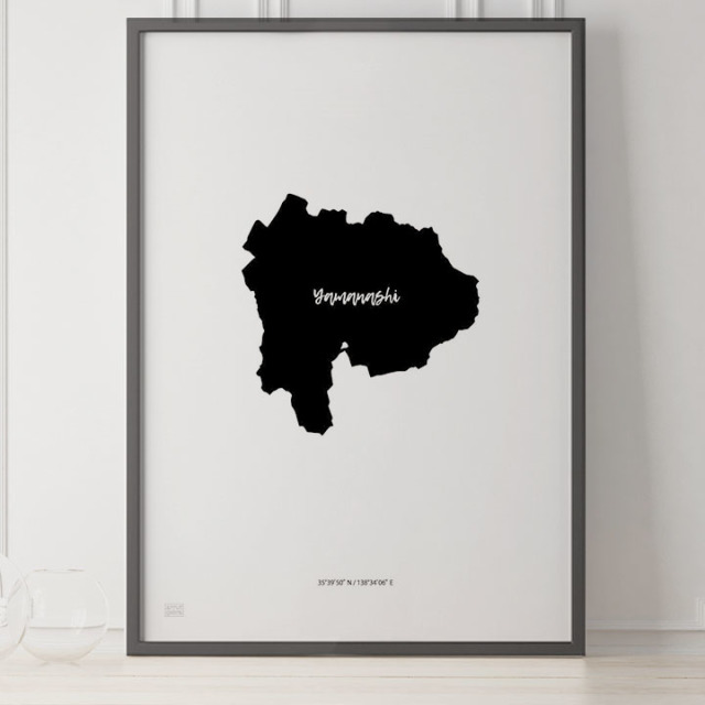 -Japan Map Poster-山梨
