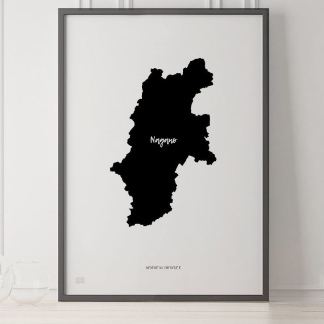 -Japan Map Poster-長野