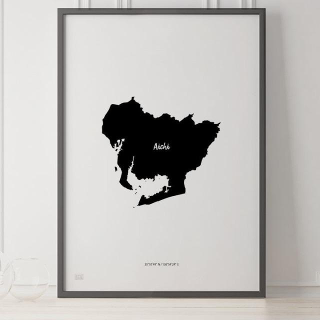 -Japan Map Poster-愛知
