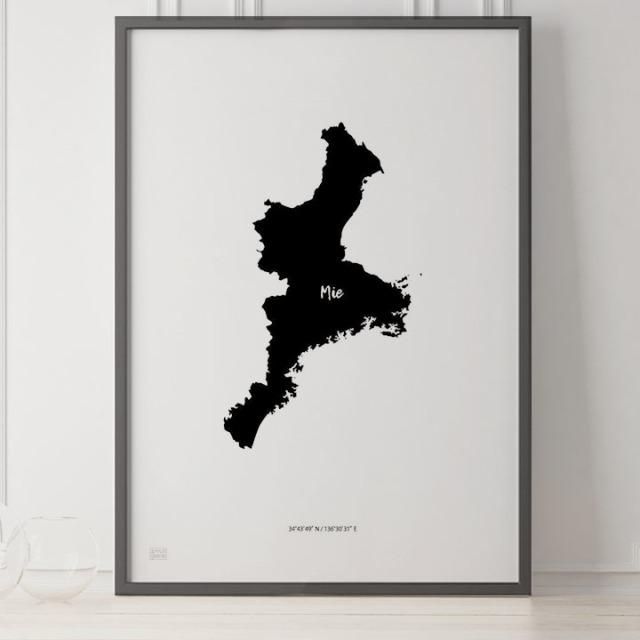 -Japan Map Poster-三重