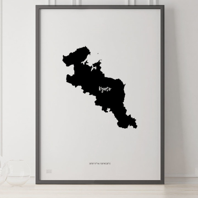 -Japan Map Poster-京都