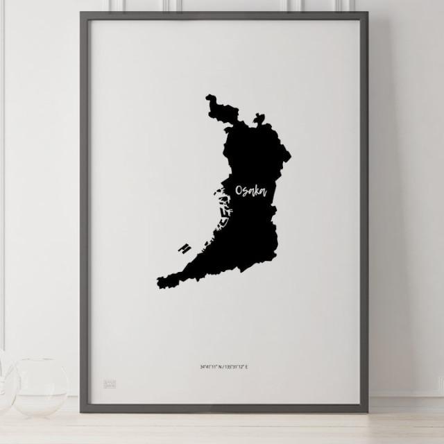 -Japan Map Poster-大阪
