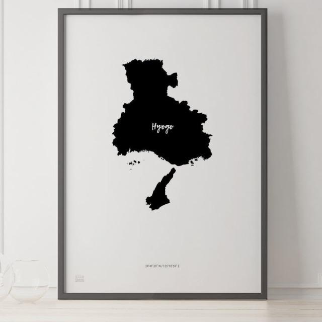-Japan Map Poster-兵庫