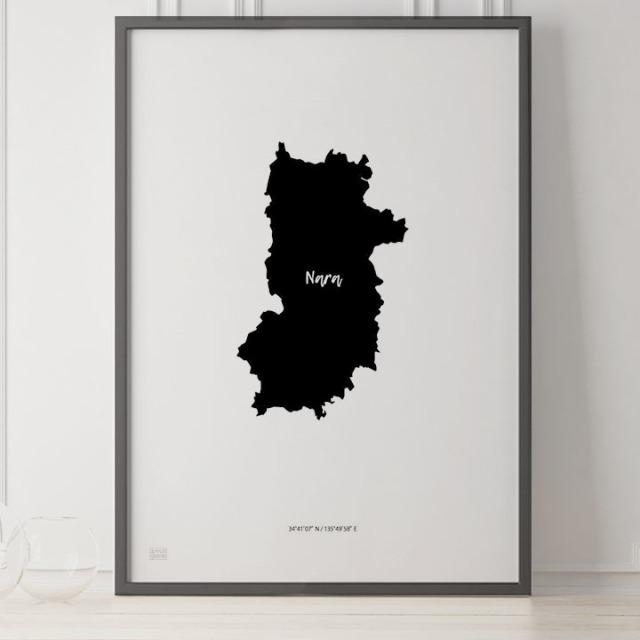 -Japan Map Poster-奈良