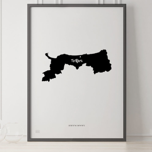 -Japan Map Poster-鳥取