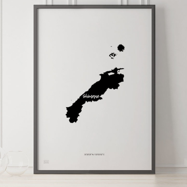 -Japan Map Poster-島根