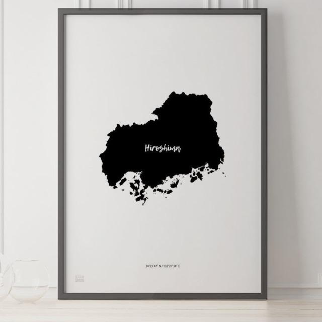 -Japan Map Poster-広島