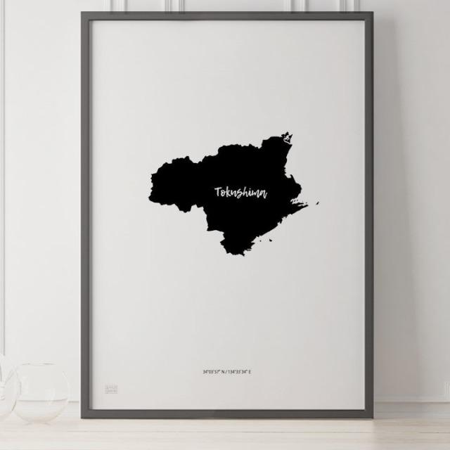 -Japan Map Poster-徳島