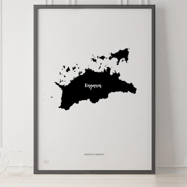 -Japan Map Poster-香川