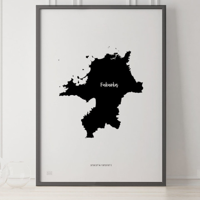 -Japan Map Poster-福岡