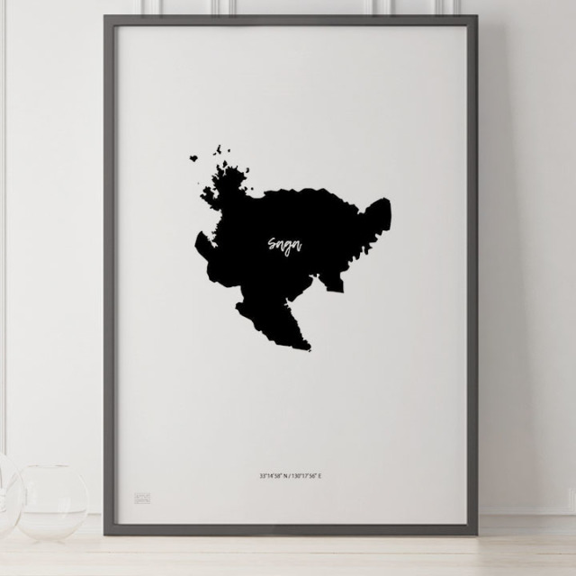 -Japan Map Poster-佐賀