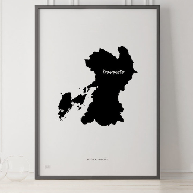 -Japan Map Poster-熊本