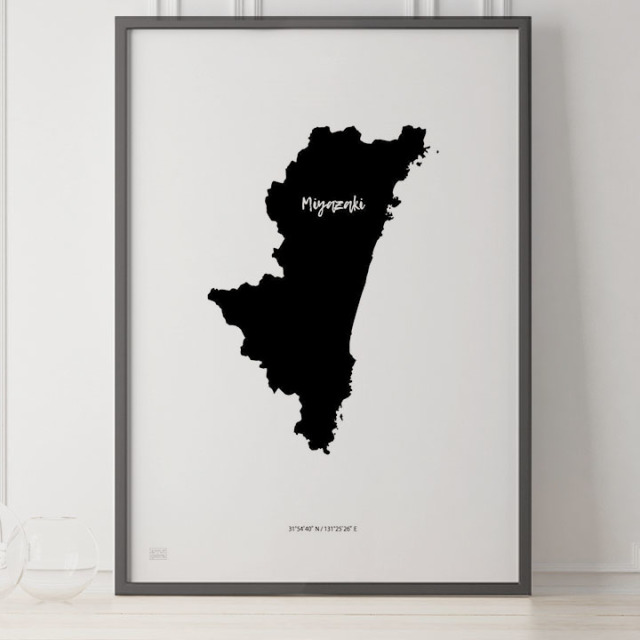 -Japan Map Poster-宮崎