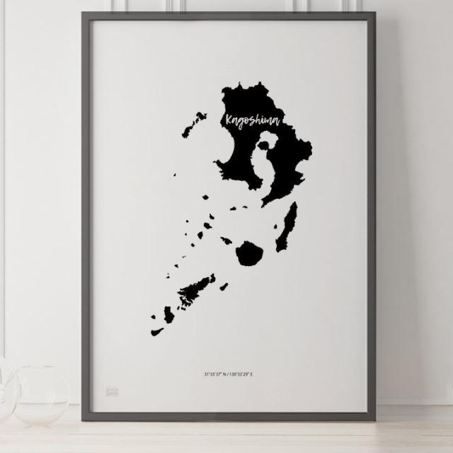 -Japan Map Poster-鹿児島