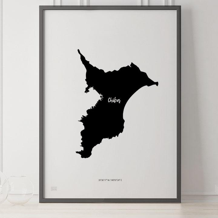 -Japan Map Poster-千葉