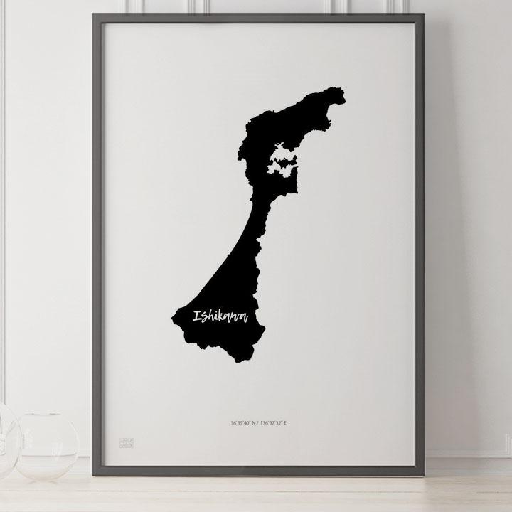 -Japan Map Poster-石川