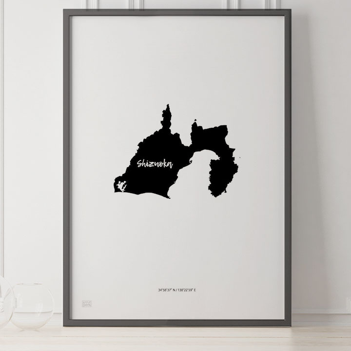 -Japan Map Poster-静岡