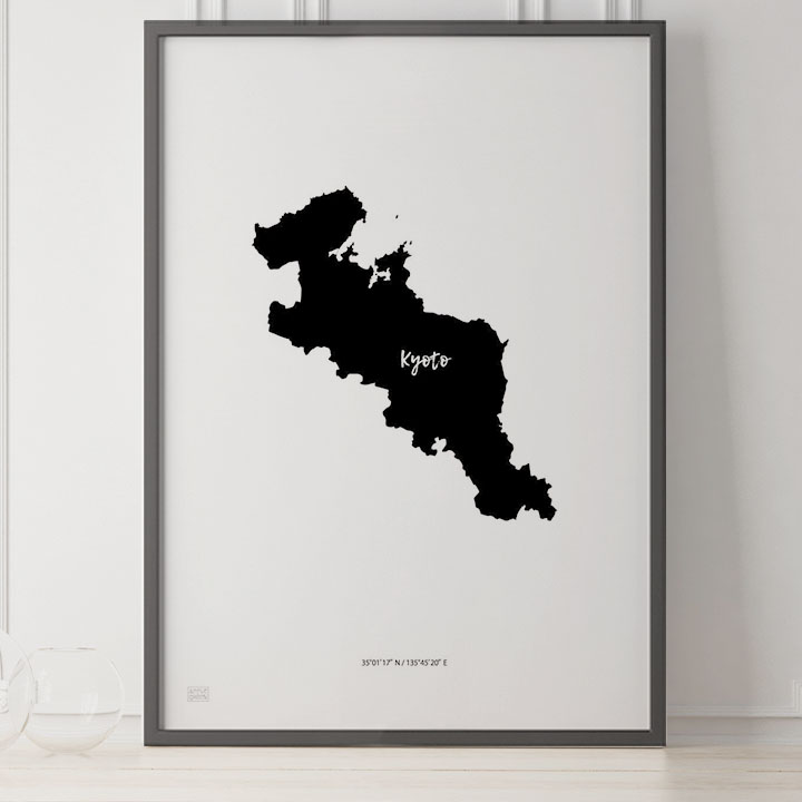 -Japan Map Poster-京都