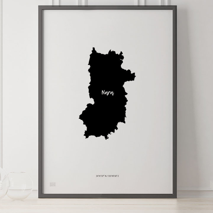 -Japan Map Poster-奈良